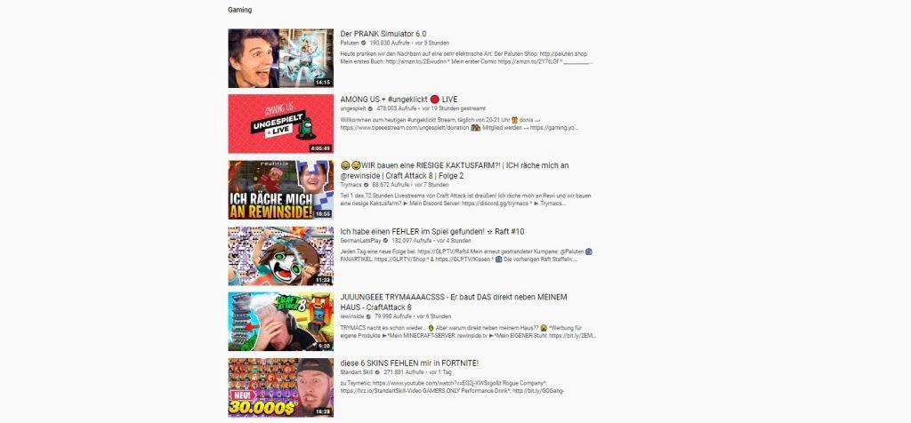 Tendencias de YouTube Minecraft Craft Attack