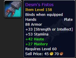 WoW Desms Fistos