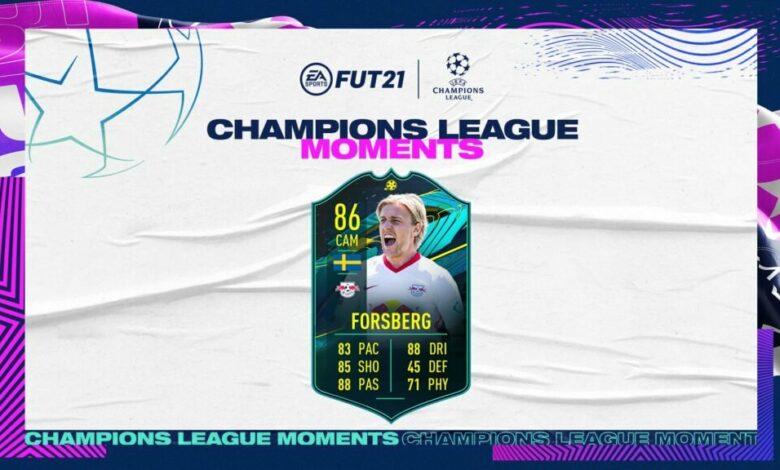 FIFA 21: Momentos de la SBC Emil Forsberg Champions League - Anunciado el nuevo desafío de creación de plantillas