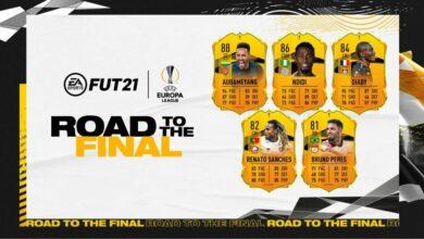 FIFA 21: RTTF Team 1 UEL - Cartas dinámicas de la UEFA Europa League