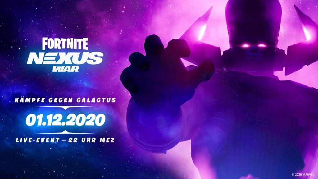 Información del evento en vivo de Galactus