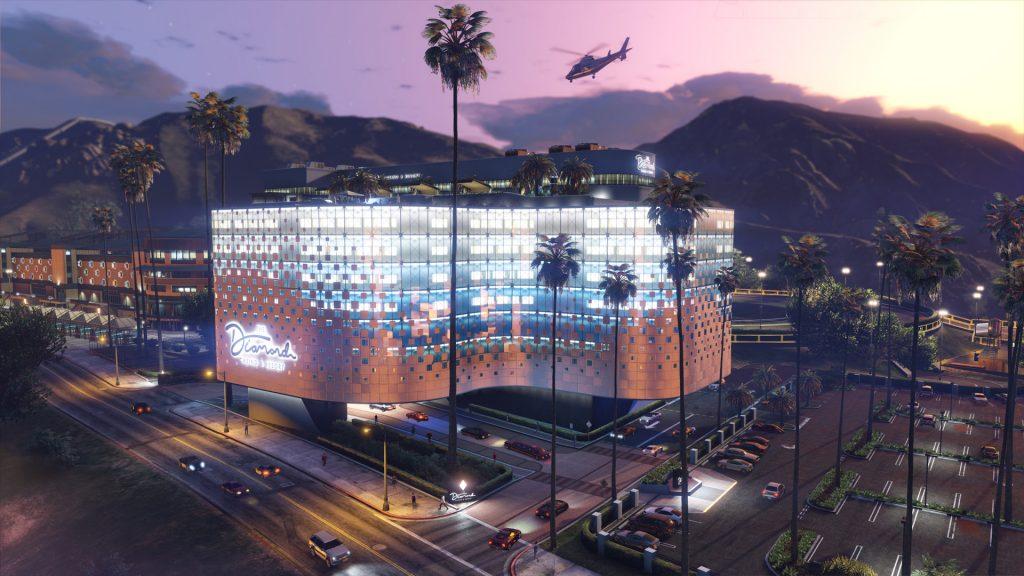 Edificio del casino en línea GTA Nuevo