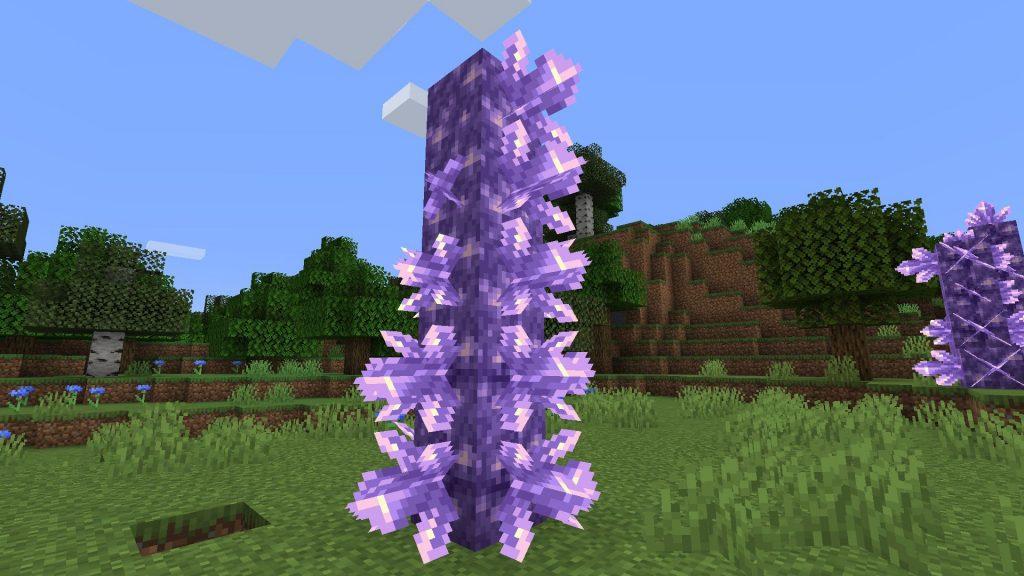 Estatua de amatista de Minecraft