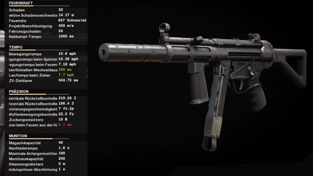 cod black ops armas de la guerra fría configuración mp5 después del inicio