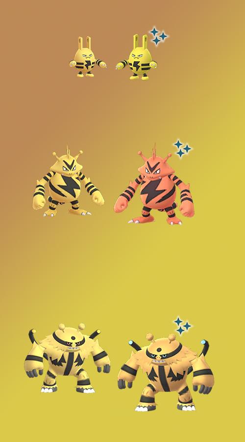Familia Pokémon GO Elektek Shiny