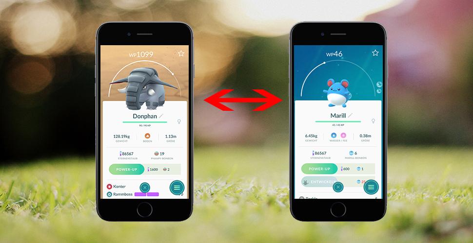 Títulos de Pokémon GO Swap
