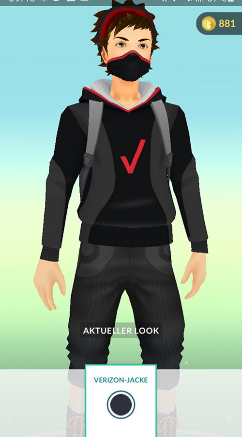 Máscara y chaqueta Pokémon GO Verizon