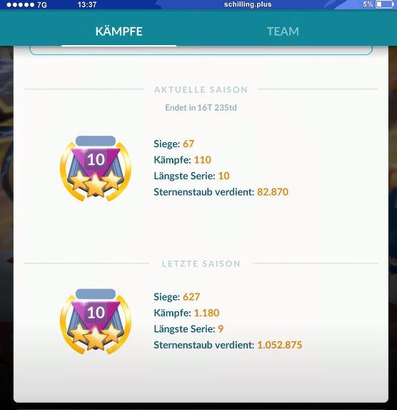 Rango 10 PvP Pokémon GO