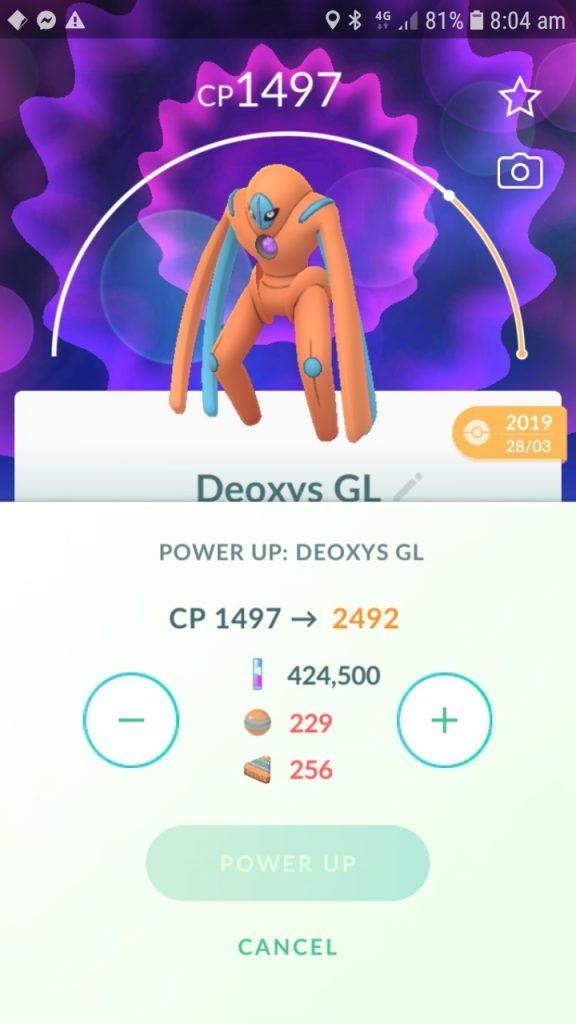 Prueba de caramelo XL Pokemon GO