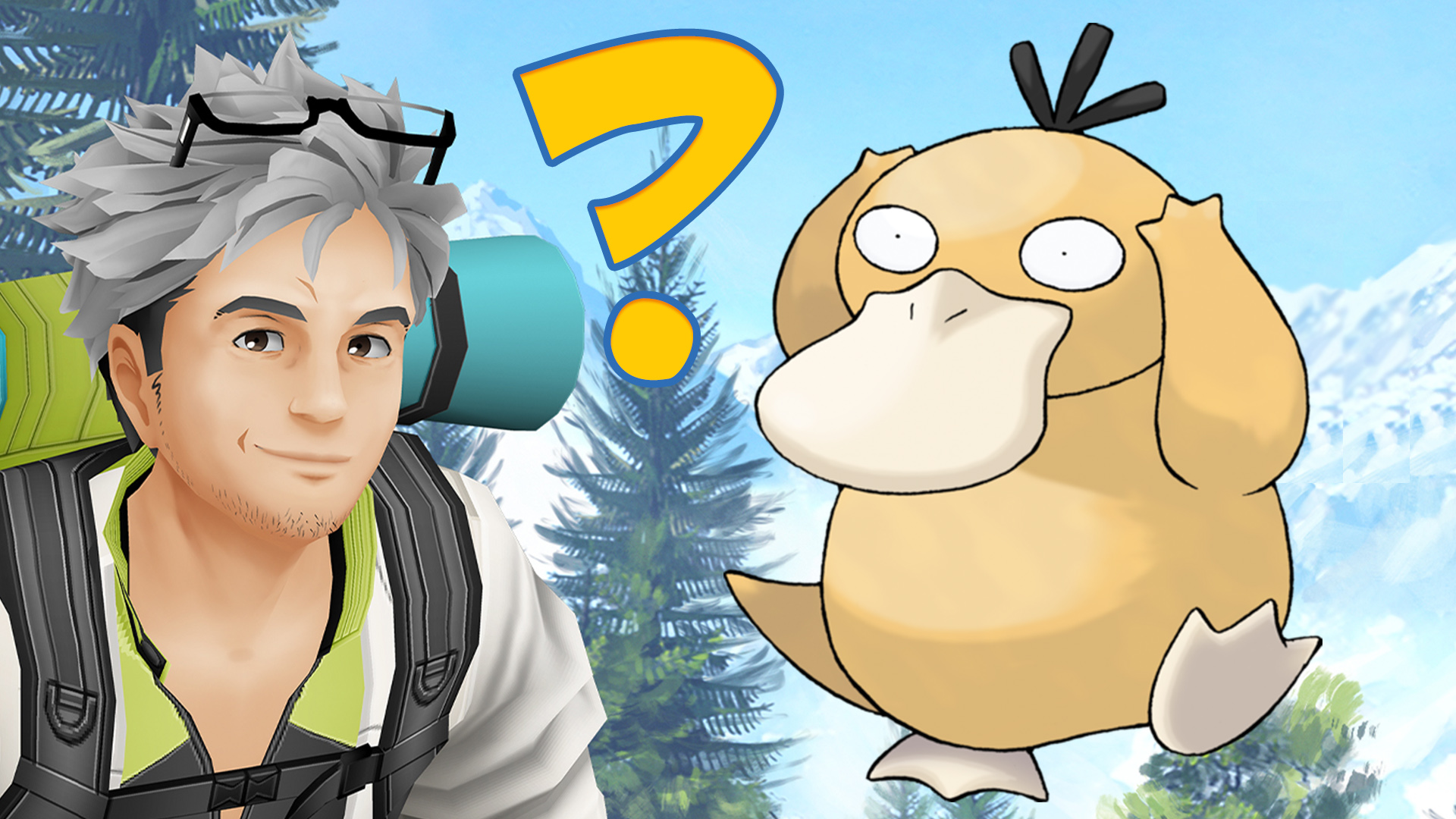 Título de la prueba de Pokémon GO Enton Willow pregunta signo de interrogación