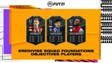 FIFA 21: Metas de Gravenberch, Van Bergen y Baumgartl - Requisitos básicos de la Eredivisie Squad