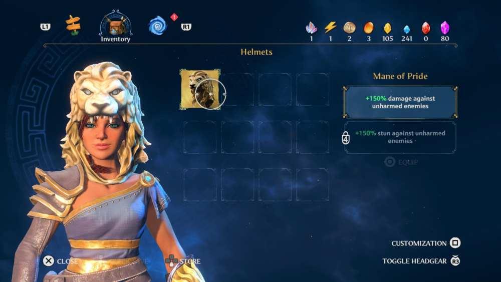 cambio de apariencia del personaje inmortales fenyx
