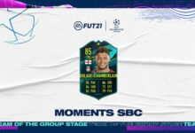 FIFA 21: Alex Oxlade-Chamberlain Moments SBC - Requisitos y soluciones