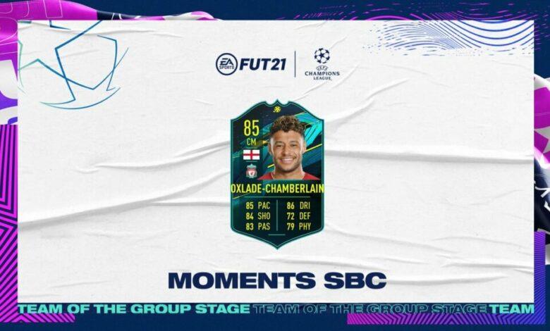 FIFA 21: Alex Oxlade-Chamberlain Moments SBC - Requisitos y soluciones