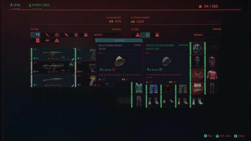 cyberpunk 2077 consigue más ropa