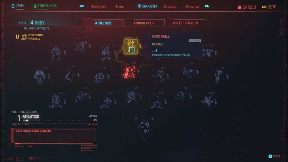 aumentar la capacidad de transporte cyberpunk 2077