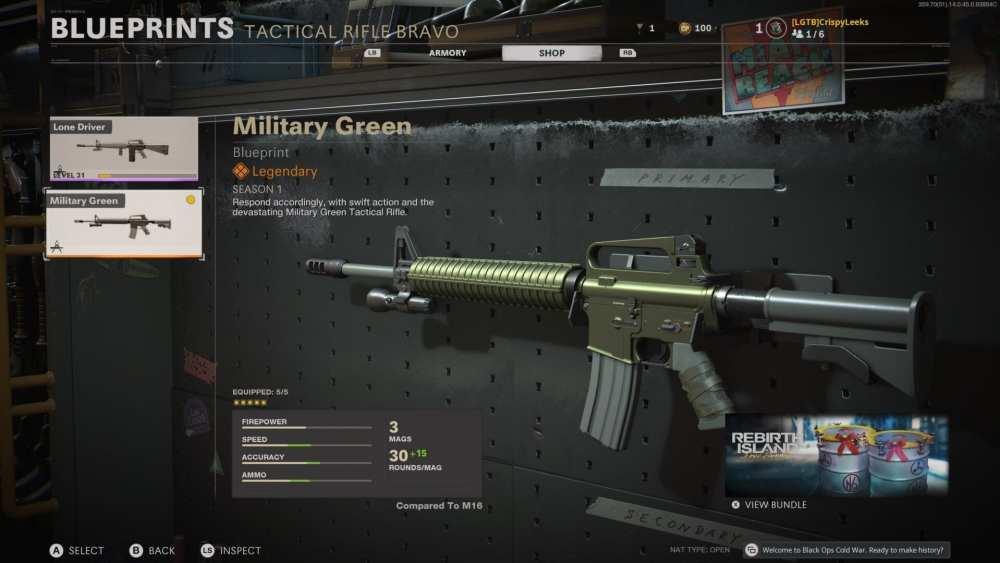 verde militar m16