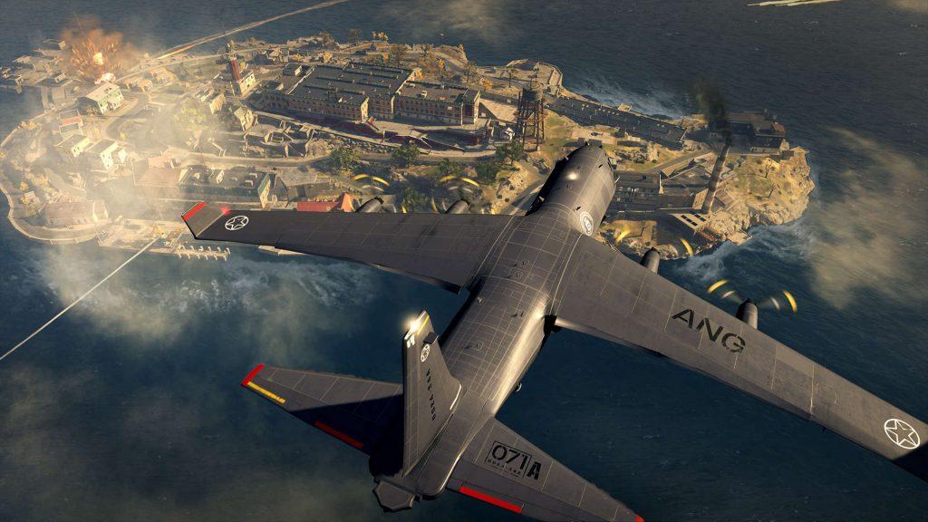 isla de renacimiento de la zona de guerra de bacalao desde el avión