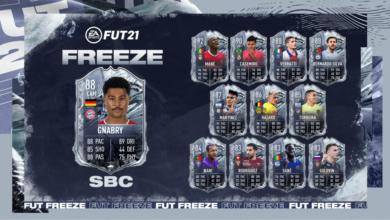 FIFA 21: SBC Serge Gnabry Freeze - Requisitos y soluciones