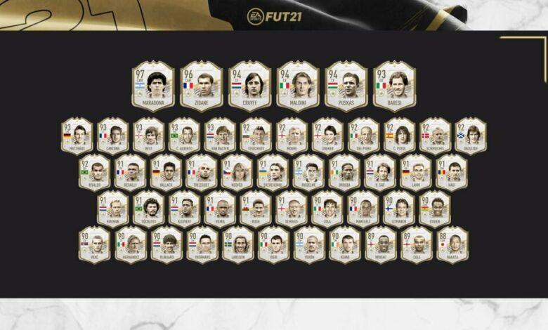 FIFA 21: Icon Prime - Segundo grupo disponible en paquetes