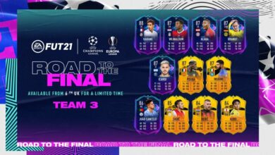 FIFA 21: Road To The Final Team 3 - Tarjetas dinámicas UCL y UEL
