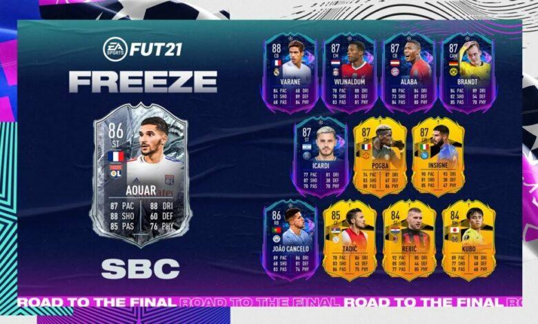 FIFA 21: SBC Houssem Aouar Freeze - Requisitos y soluciones