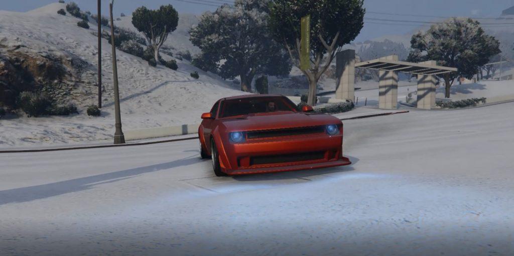 Deriva de nieve de GTA Online