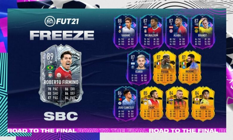 FIFA 21: SBC Roberto Firmino Freeze - Requisitos y soluciones