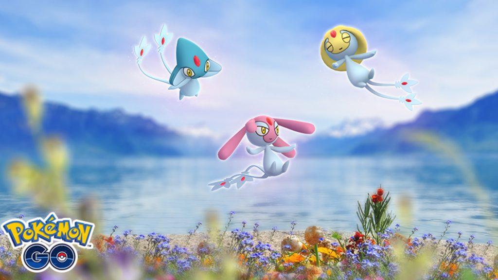 Visto Trío Selfe Tobutz Vesprit Pokemon GO