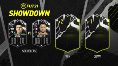 FIFA 21: SBC Acuna vs Coquelin Showdown - Requisitos y soluciones