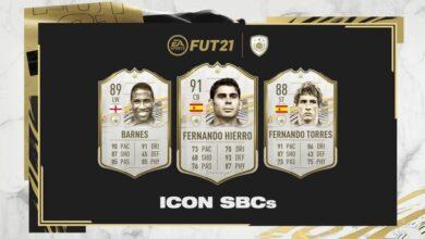 FIFA 21: Iconos del DCP de Torres, Hierro y Barnes disponibles
