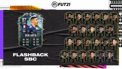 FIFA 21: SBC Ben Arfa Flashback Era - Requisitos y soluciones