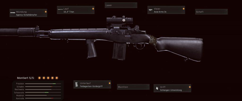 configuración de dmr 14 de armas de zona de guerra de bacalao