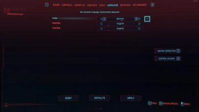 Cyberpunk 2077 - Cómo cambiar el idioma