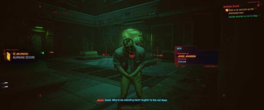 cyberpunk 2077 etiqueta enemigos