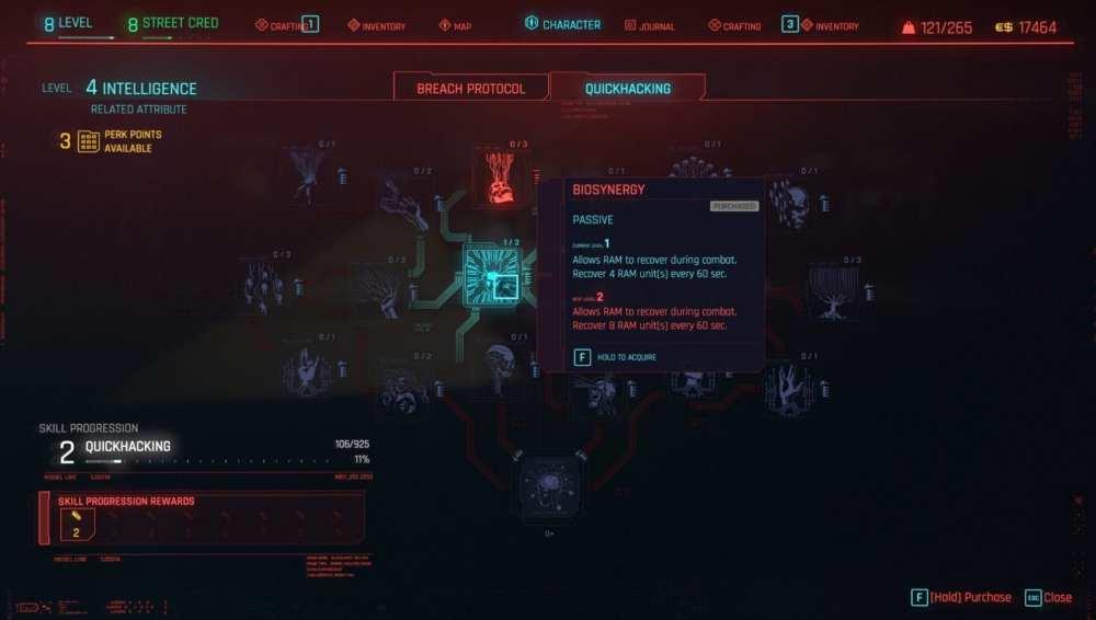 cyberpunk 2077 restaurar ram