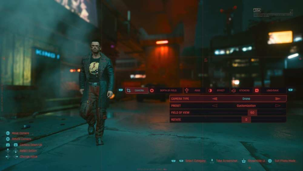 Cómo usar el modo foto en Cyberpunk 2077