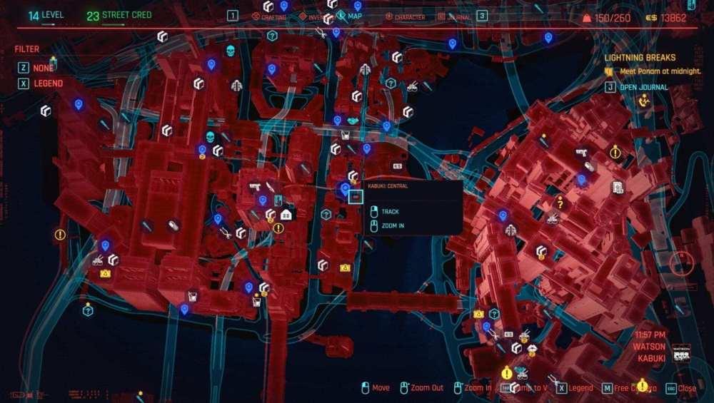 cyberpunk 2077 no decir la ubicación del motel