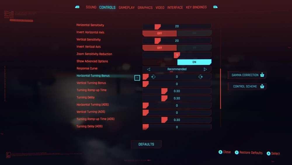 cyberpunk 2077 mejores configuraciones del controlador