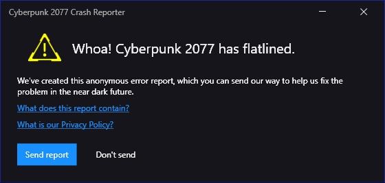 Cyberpunk 2077 tiene corrección de error de línea plana