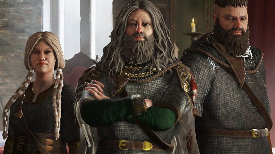 """Crusader-Kings-3-Wikinger """"class ="""" wp-image-633849 """"srcset ="""" http://dlprivateserver.com/wp-content/uploads/2020/12/En-mi-juego-del-ano-tengo-14-hijos-4-mujeres.jpg 960w, https : //images.mein-mmo.de/medien/2020/12/Crusader-Kings-3-Wikinger-300x169.jpg 300w, https://images.mein-mmo.de/medien/2020/12/Crusader- Kings-3-Wikinger-150x84.jpg 150w, https://images.mein-mmo.de/medien/2020/12/Crusader-Kings-3-Wikinger-768x432.jpg 768w, https: //images.mein- mmo.de/medien/2020/12/Crusader-Kings-3-Wikinger-780x438.jpg 780w """"size ="""" (max-width: 960px) 100vw, 960px """"> Los malditos vikingos son estresantes. Incluso las mujeres se ven desagradables !     <p>Luego, hay una multitud de eventos a nivel de juego de roles que tienes que decidir una y otra vez:</p> <ul> <li>La gente del pueblo está a punto de quemar a una mujer en la hoguera porque ha habido una mala cosecha, ¿lo permite, perdona a la mujer o incluso la contrata como consultora?</li> <li>En una peregrinación a Jerusalén te encuentras con una mujer mejor que te habla de una religión nueva y genial: ¿cómo lidias con ella?</li> <li>El sacerdote imperial se avergonzó a sí mismo con un comentario estúpido: ¿lo está tomando bajo protección, burlándose de él o manteniendo un perfil bajo?</li> </ul> <p>Los problemas más importantes en Crusader Kings 3 siempre conciernen a la familia y la herencia tan importante. Porque al final, si tu personaje muere, tienes que seguir jugando con un descendiente. Aquí es importante elegir a la persona adecuada y darle una buena posición inicial, idealmente debería heredar todo el imperio y no solo una parte de él:</p> <ul> <li>Tengo 5 hijos, ¿cómo me las arreglo para que mi ingenioso tercer hijo se convierta en el heredero principal y mi reino no se desmorone en todas sus partes solo porque los otros 4 herederos menos acomodados también quisieran ser duque en lugar de duque?</li> <li>¿Por qué me involucré en una aventura con la esposa de un conde cuando ella claramente tiene una enfermedad de"""