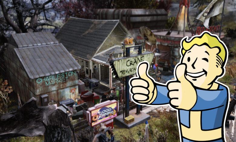 Fallout 76: el jugador construye tu propia ciudad - MeinMMO estuvo allí