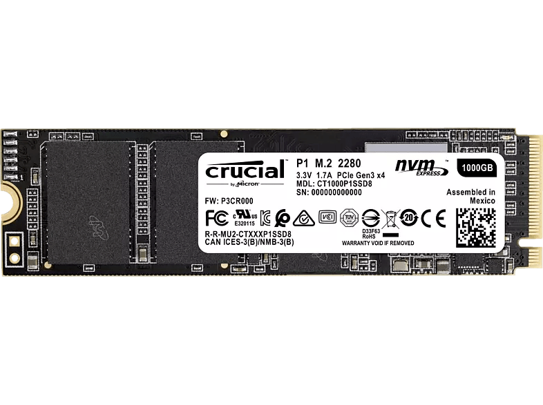 SSD P1 crucial (1 TB)
