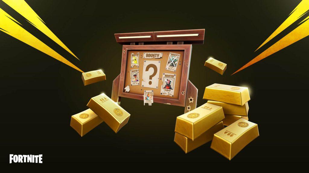 título de recompensa de lingotes de oro de fortnite