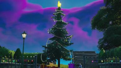 Fortnite: Baila en los árboles de Navidad - Todos los árboles en el mapa