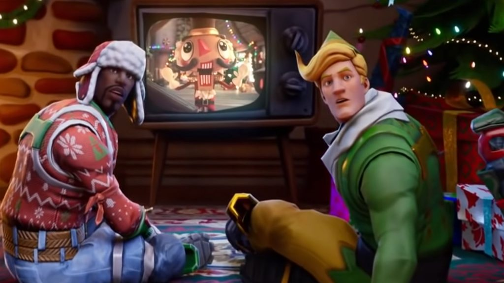 Título de televisión sorpresa navideña de Fortnite