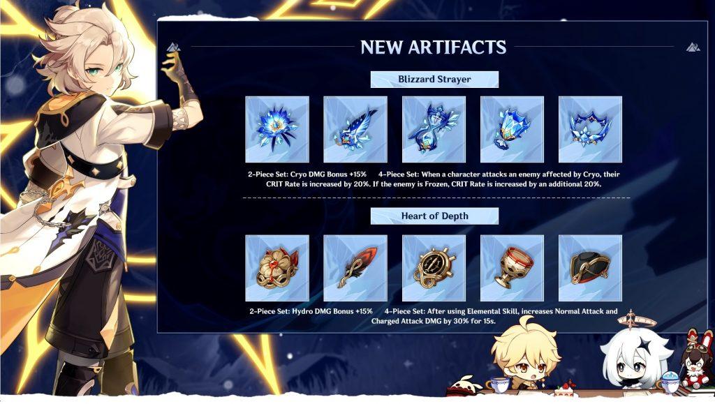 Genshin Imapct 1.2 nuevos artefactos