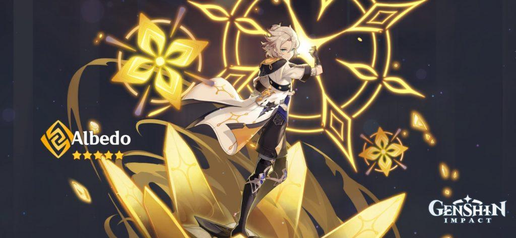 banner de albedo de impacto de genshin
