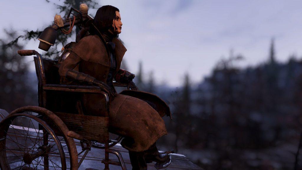 Fallout 76: silla de ruedas en el menú de construcción
