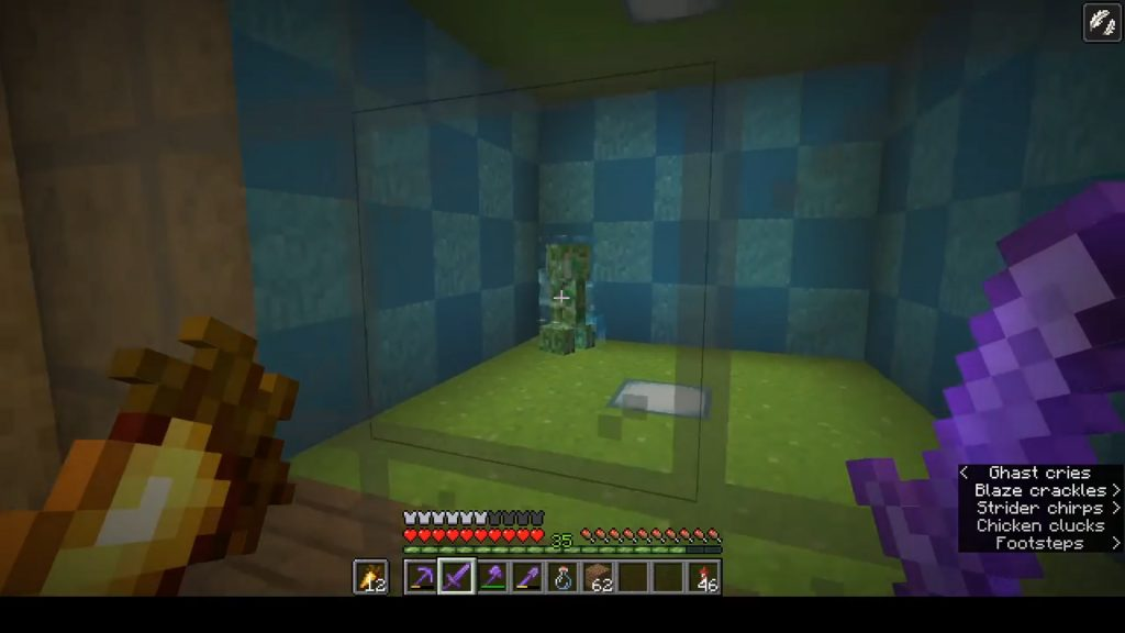 Creeper cargado de Minecraft